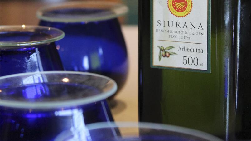 Catando aceite de oliva virgen extra